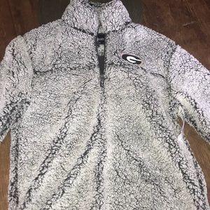GEORGIA BULLDOGS 3/4 zip SHERPA pullover